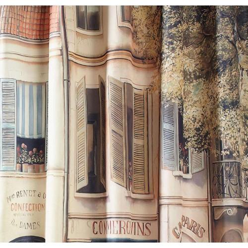 Paris The Corner Coffee Shop Nostalgia Shower Curtain