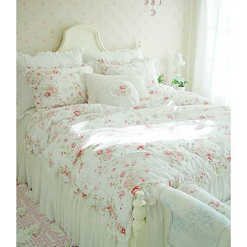 Custom shower curtain with valance - Shabby Chic Bedding