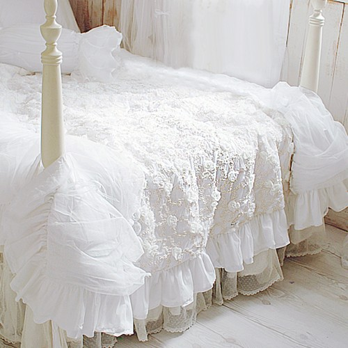 amazon bedding set kitchen queen piece ruffle com cover tc cotton full waterfall dp white home scala duvet egyptian