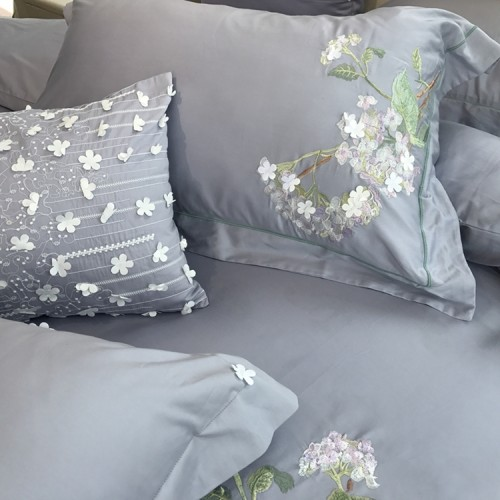 Purple Hydrangea Egyptian Cotton Duvet Cover Set