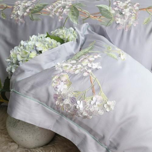 Purple Hydrangea Egyptian Cotton Duvet Cover Set