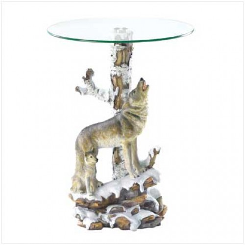 Wolf Table W Glass Table Top
