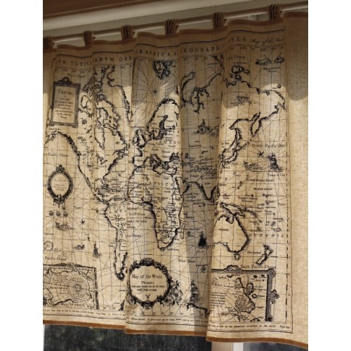 World Map Curtain