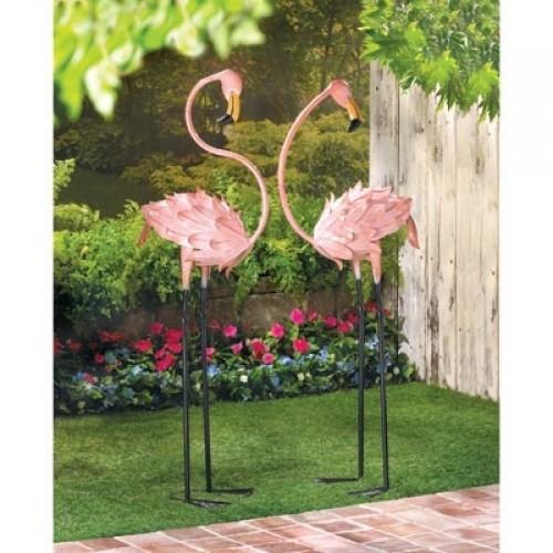 Flamboyant Flamingo Garden Stakes