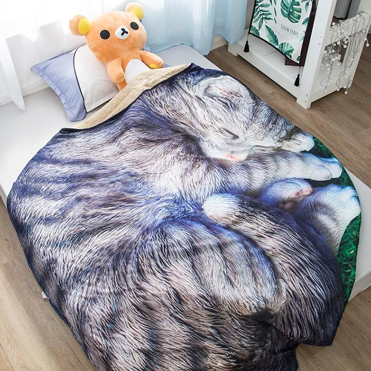 Sleeping Cat Throw Blanket