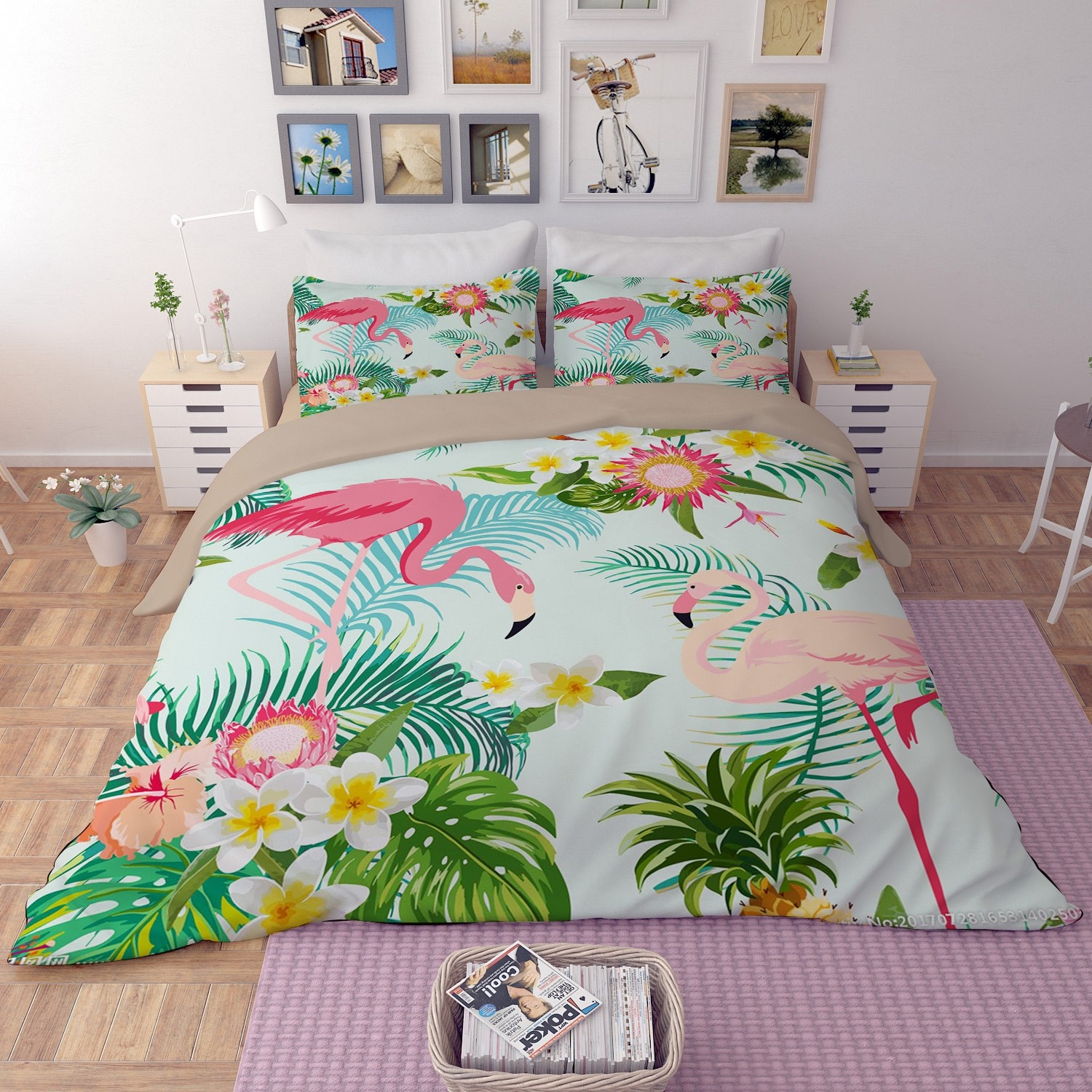 Flamingo Duvet Cover Set Bedding