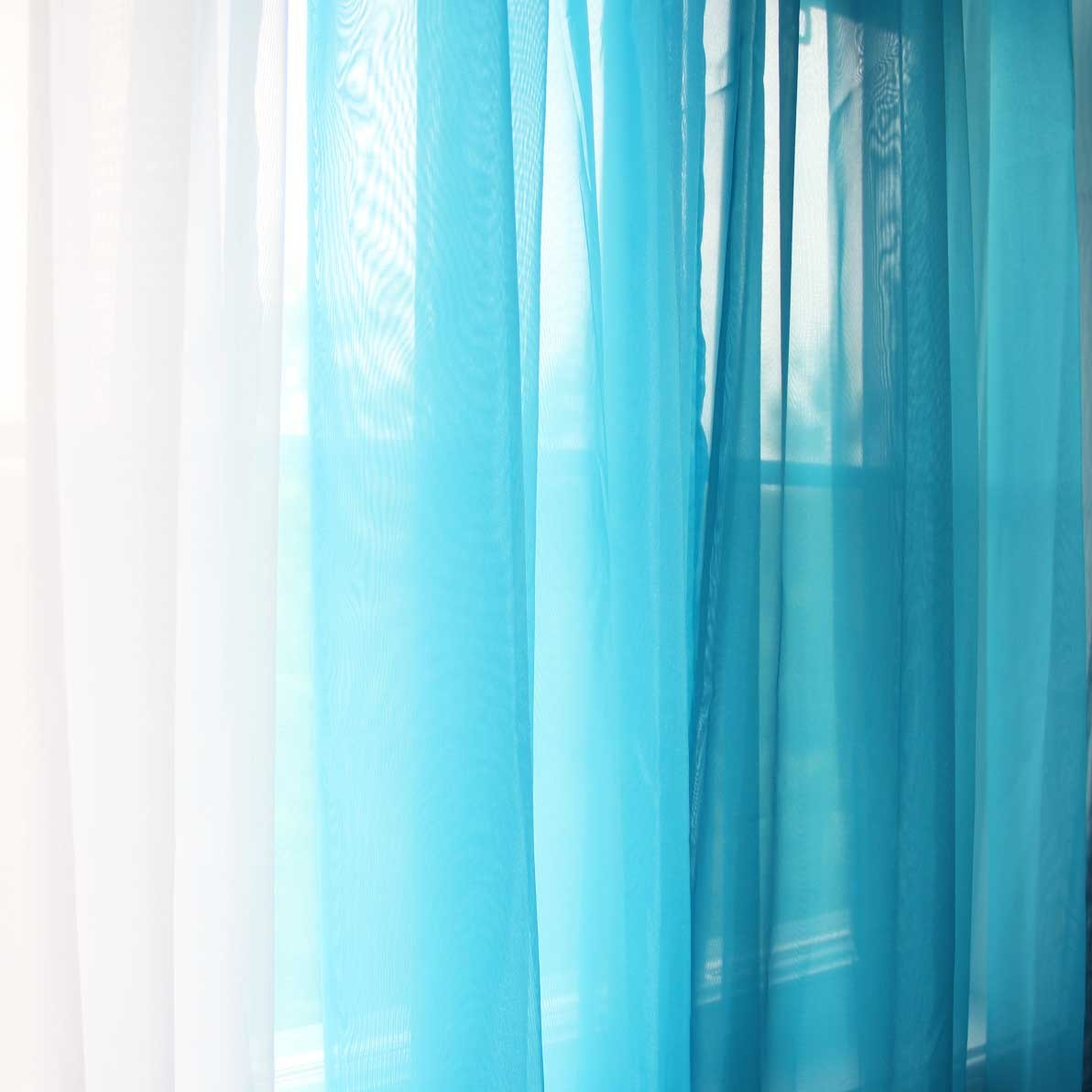 Blue Green Cafe Curtains