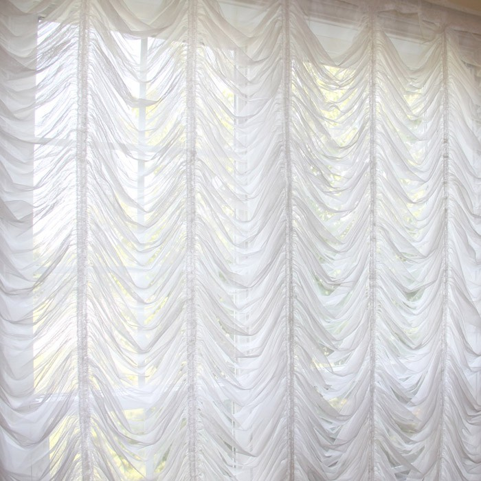 Captivating Custom Made Austrian Curtain