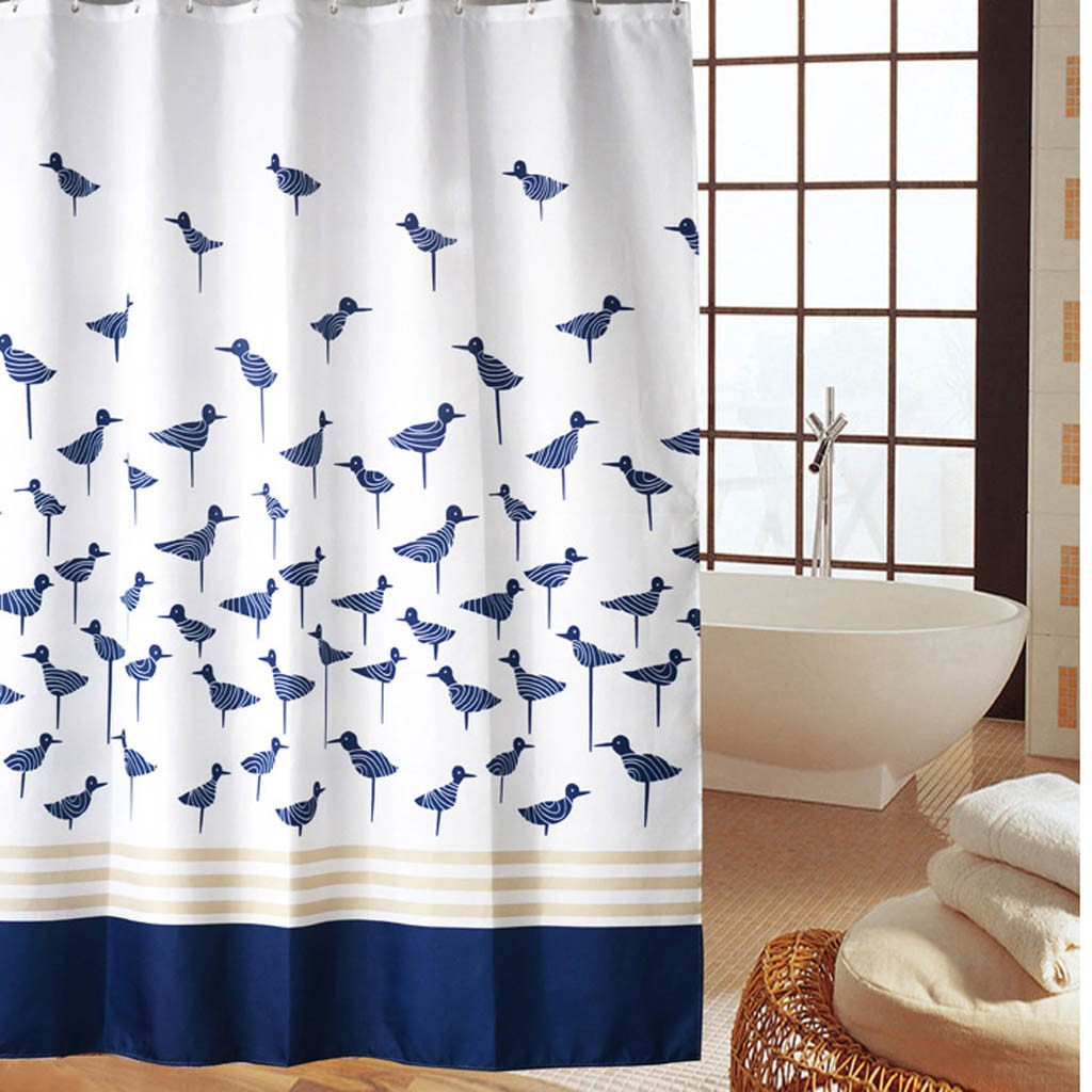 Blue Sandpiper Shower Curtain