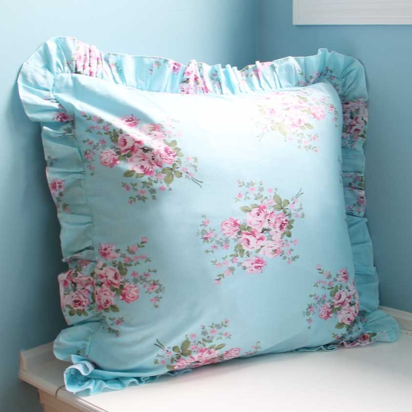 Shabby Chic Blue Pillows : shabby chic pillow