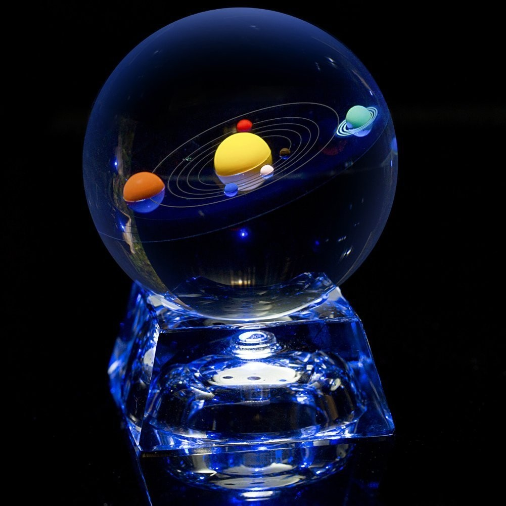Solar System Glass Ball