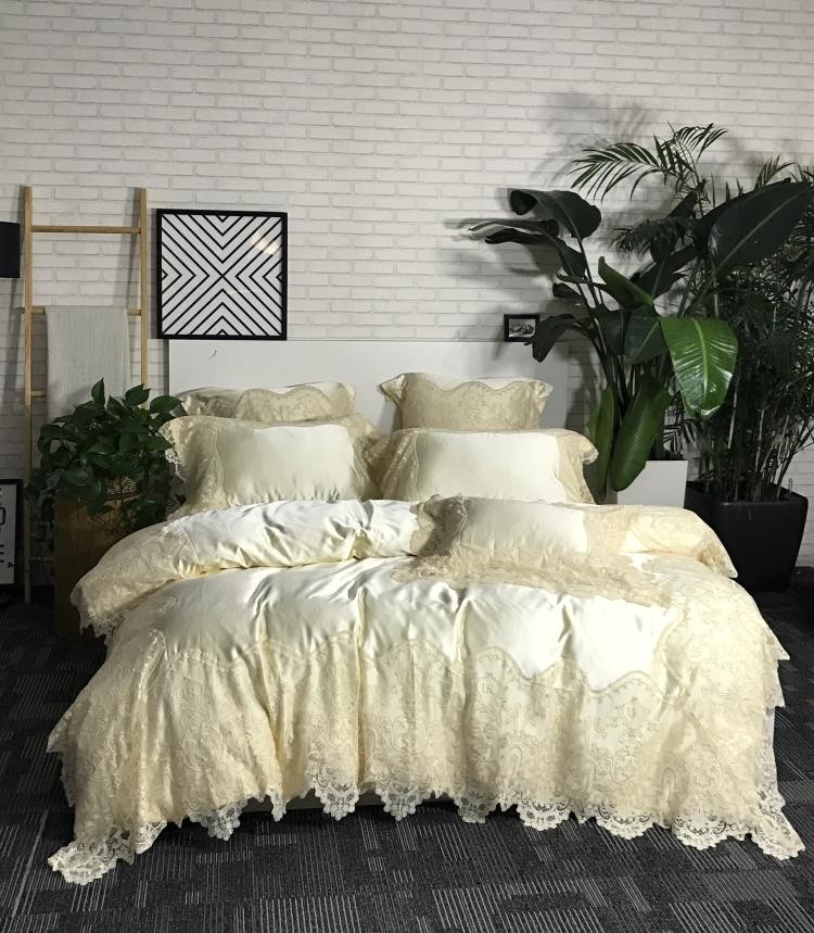 Paris Lace Egyptian Cotton Duvet Cover Set