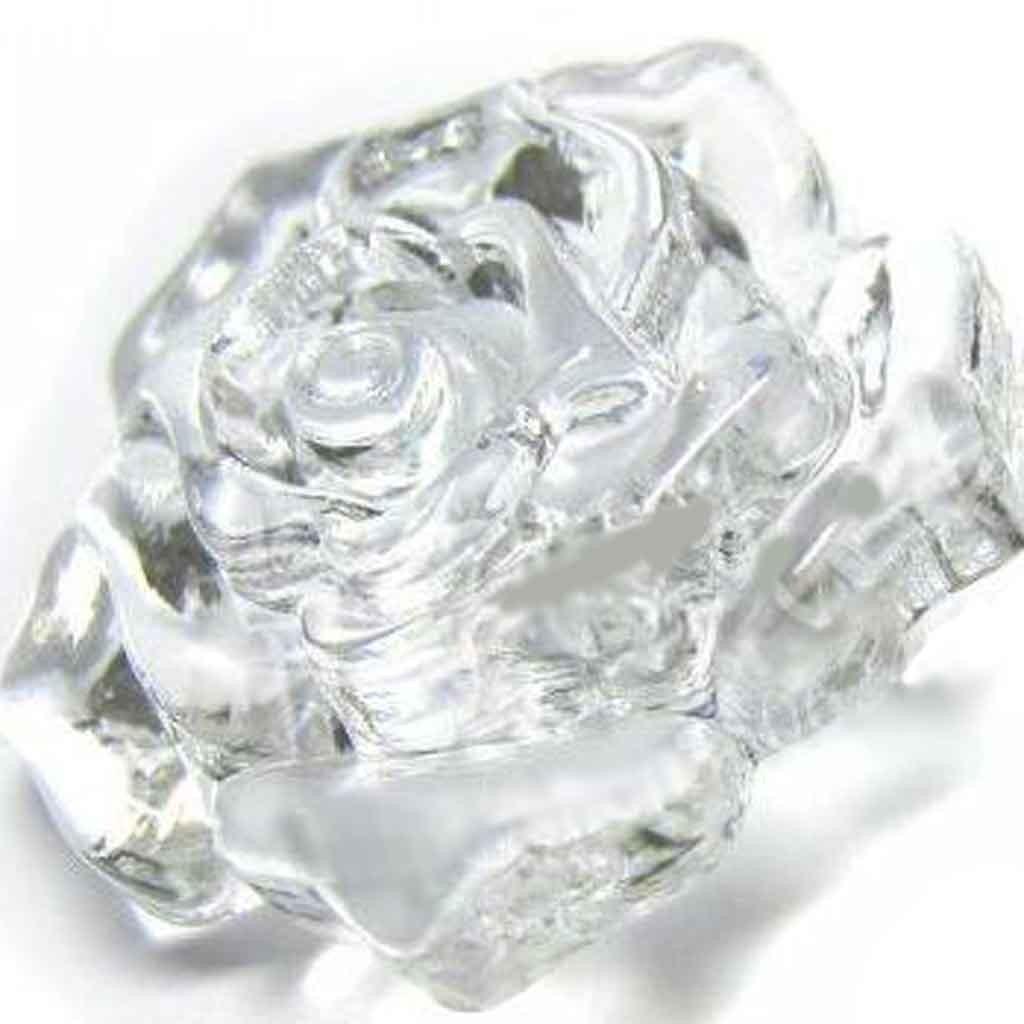 Cyrstal rose button