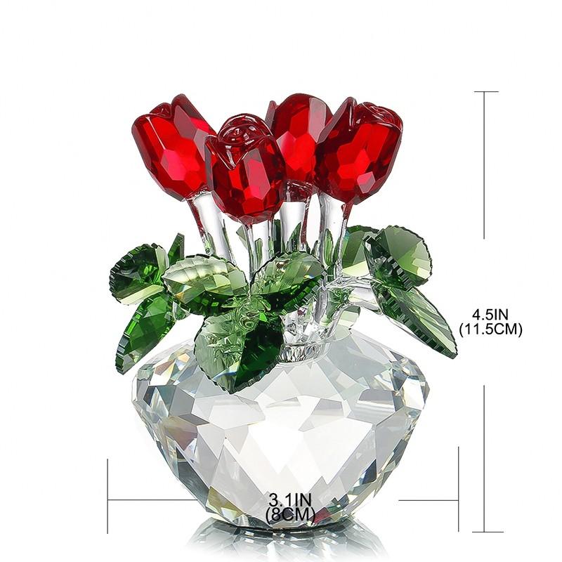 crystal glass roses. Black Bedroom Furniture Sets. Home Design Ideas
