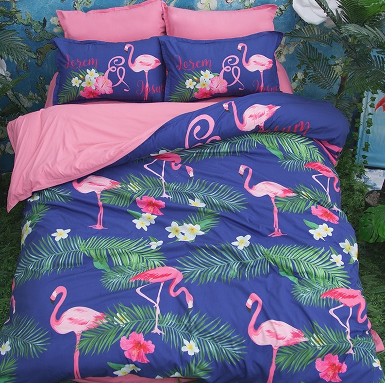 Flamingos Duvet Cover Set Bedding