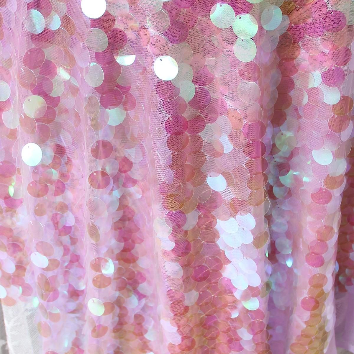 Purple Blink Iridescent Holographic Sequin Fabric