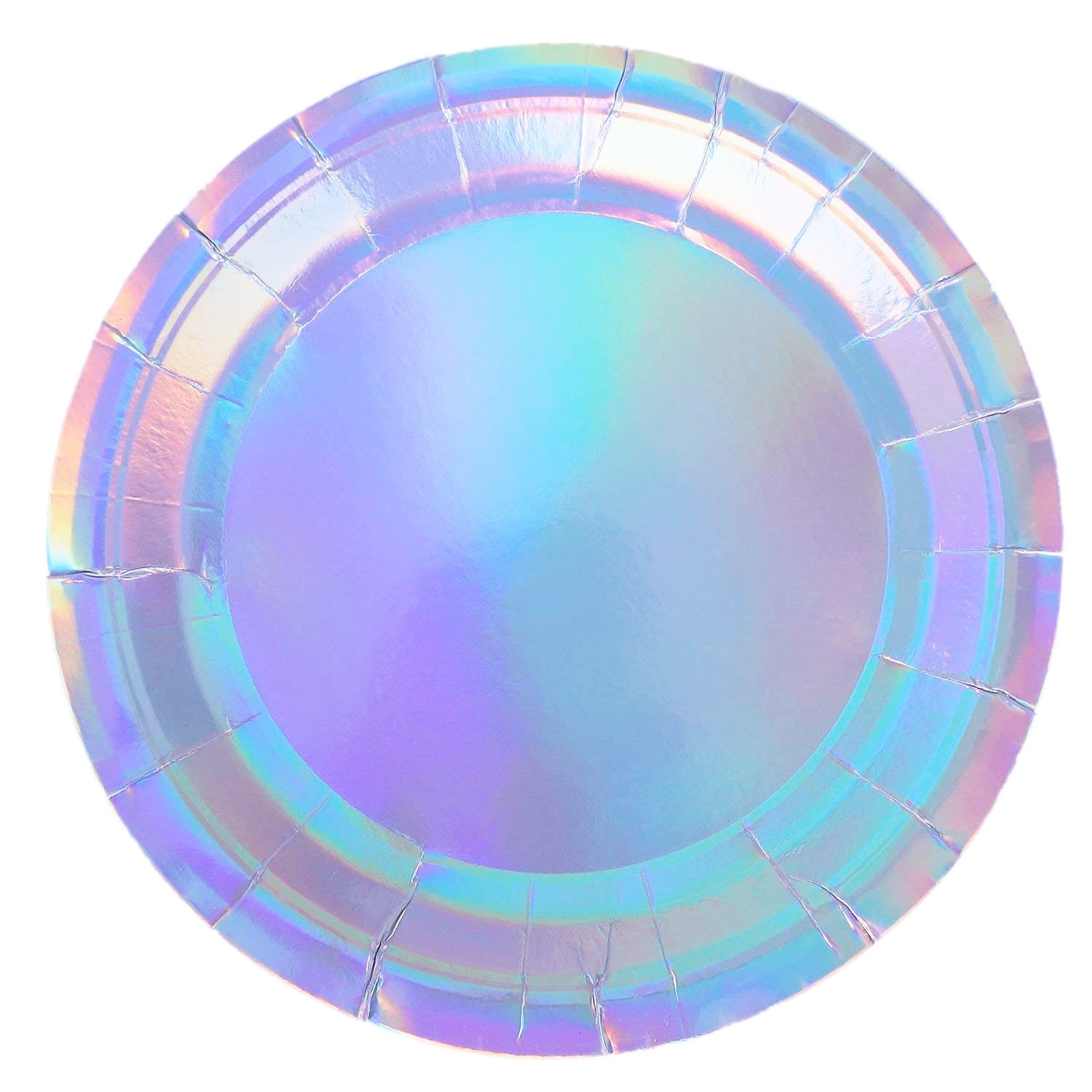 Silver Holographic Iridescent Party Plates