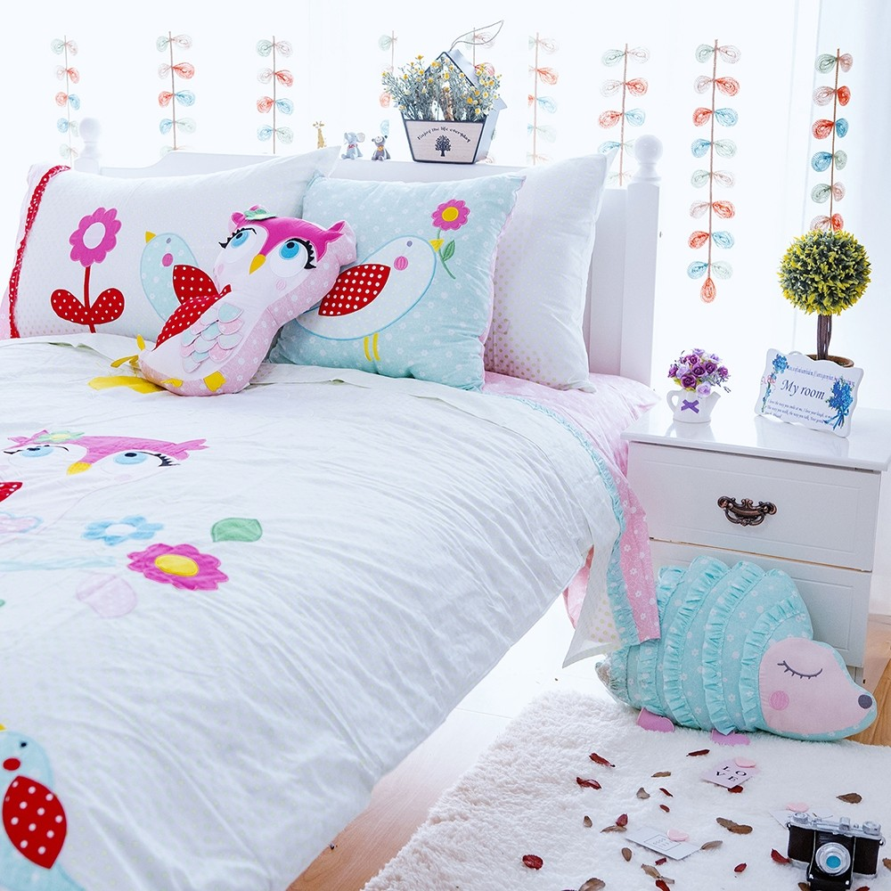 Kids Owl Duvet Cover Set