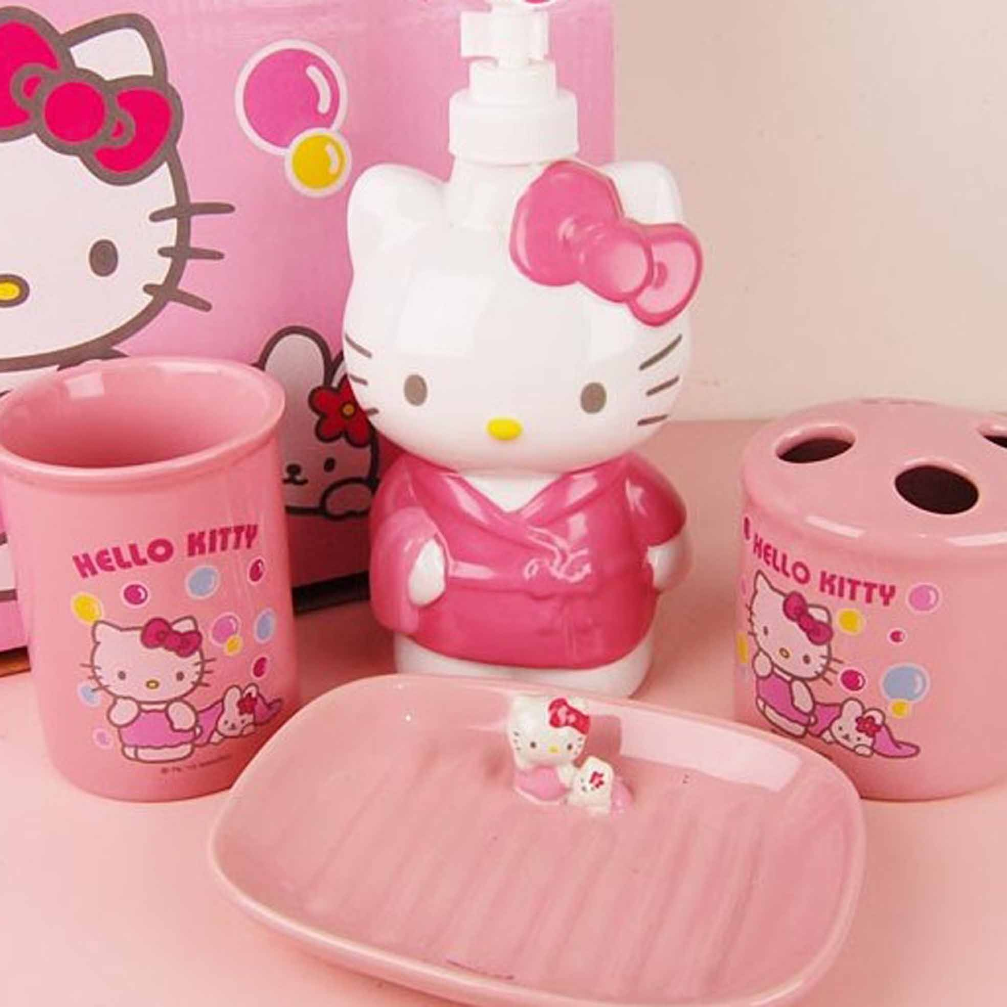 Hello Kitty Kitchen Accessories: Hello Kitty Bathroom Set