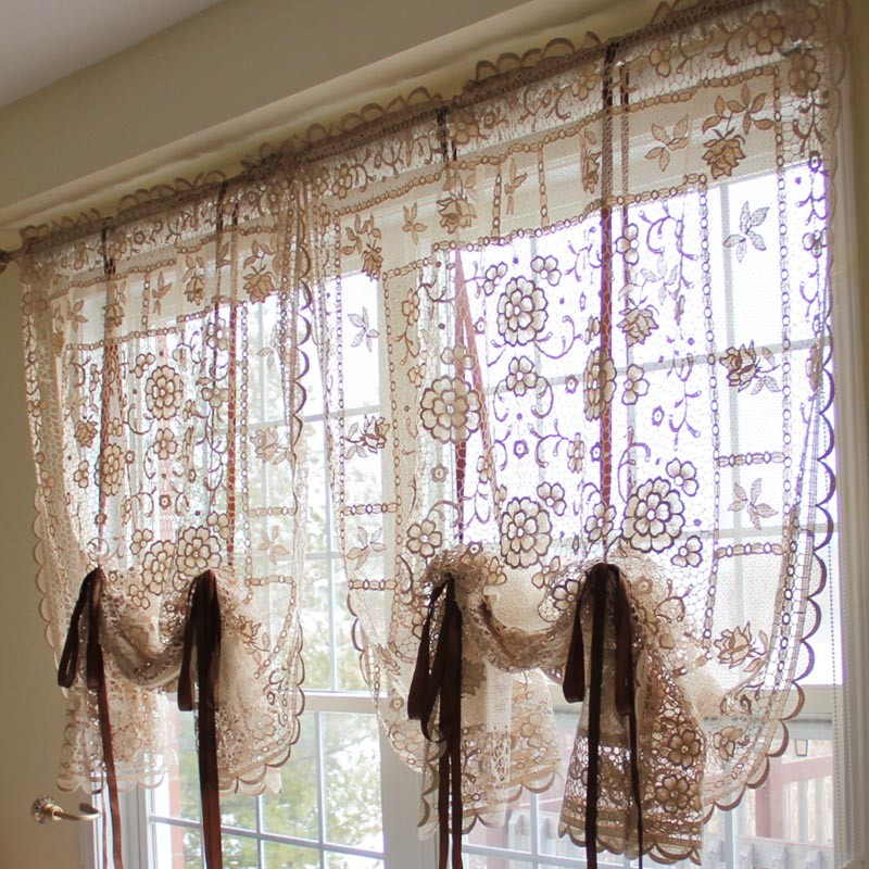 Lace curtain for Balloon curtains for living room