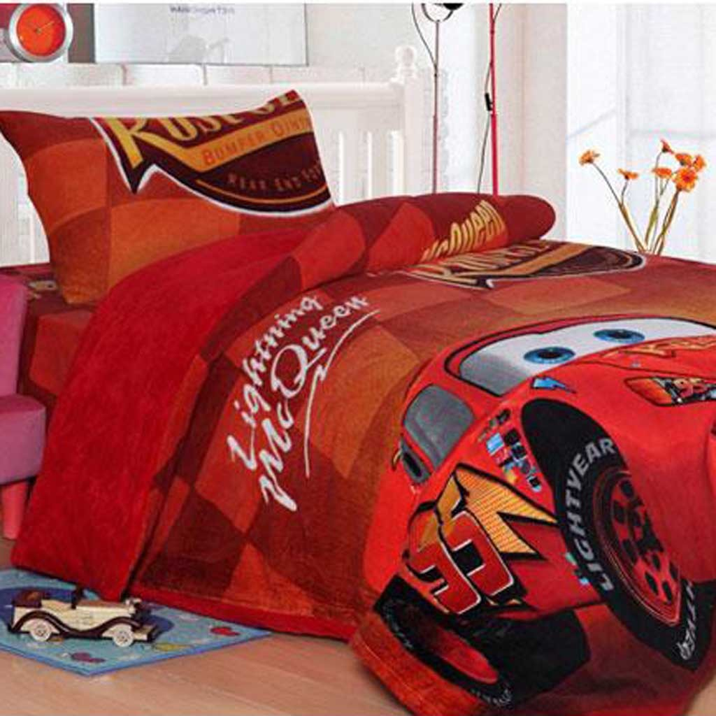 Lightning Mcqueen Fleece Duvet Cover Set