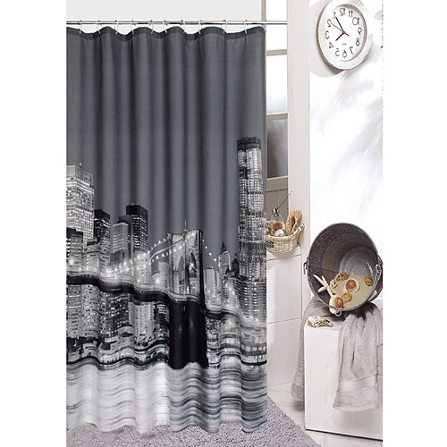 Brooklyn bridge shower curtain - Rideau new york conforama ...