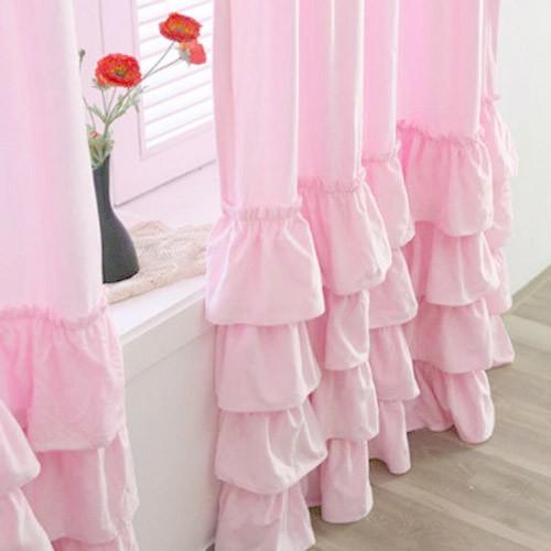 Ruffle Bottom Curtains Pink Curtain Menzilperde Net