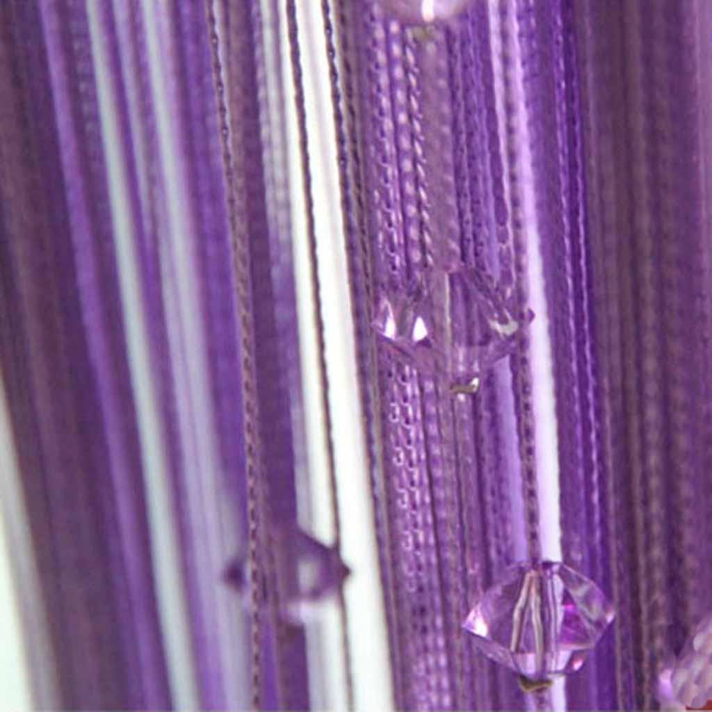 Purple Beaded String Curtain