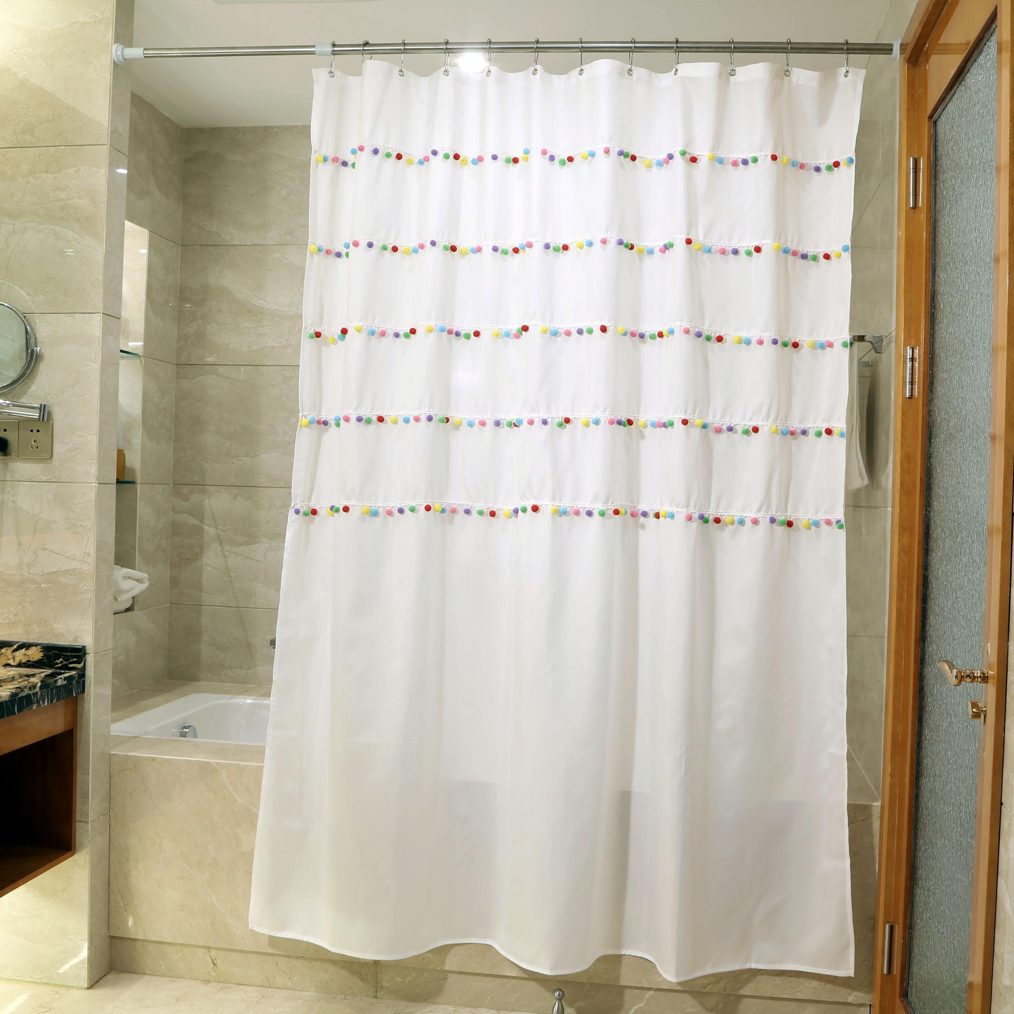 Pom Pom Ball Shower Curtain
