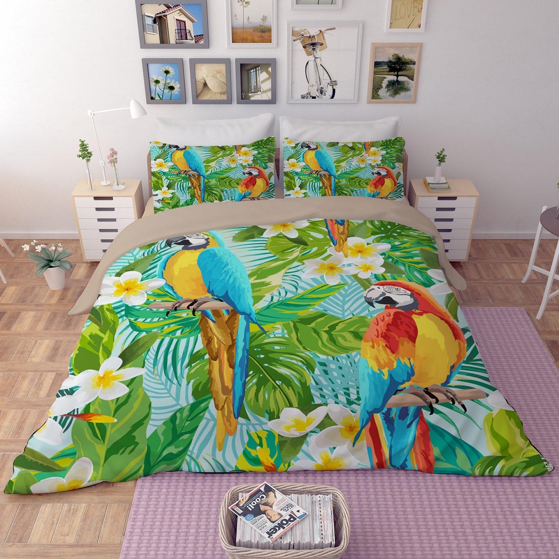 Parrot Duvet Cover Set Bedding