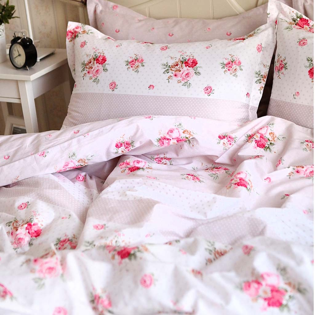 Blue Rose Bedding Set