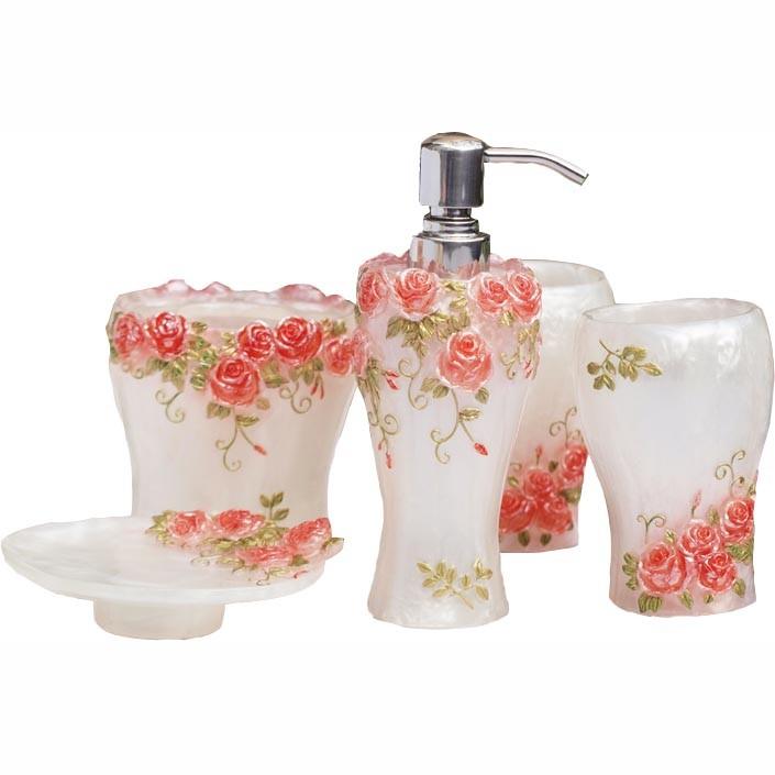 rose garden bath set 3