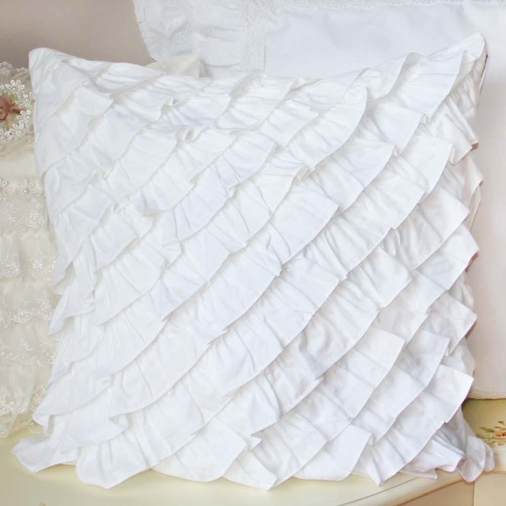 Ruffle Cushion Cover - Accent Pillows - Bedding