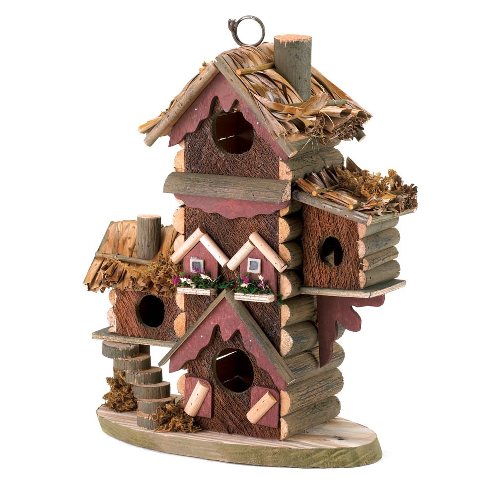 Decorative Bird House Theme And Kids Rooms Ideas: Rustic Gingerbread Style Bird House