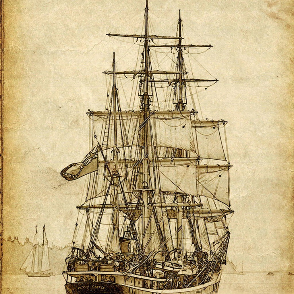 Vintage Sail Ship Canvas Print