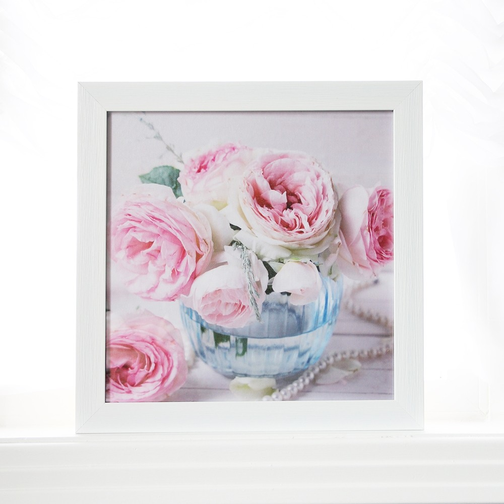 Shabby Chic Rose Pearl Wall Art