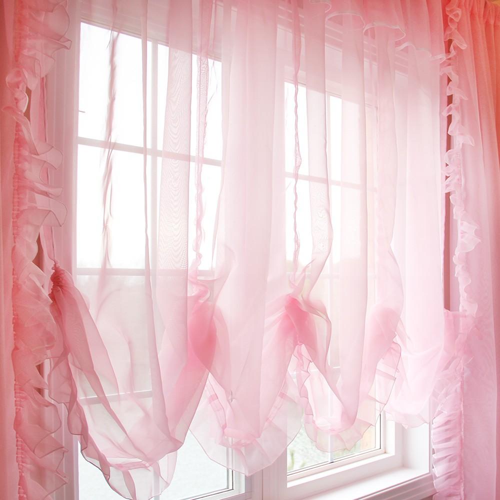 Sheer balloon curtains - Princess Pink Sheer Balloon Curtain Shade 30 Off