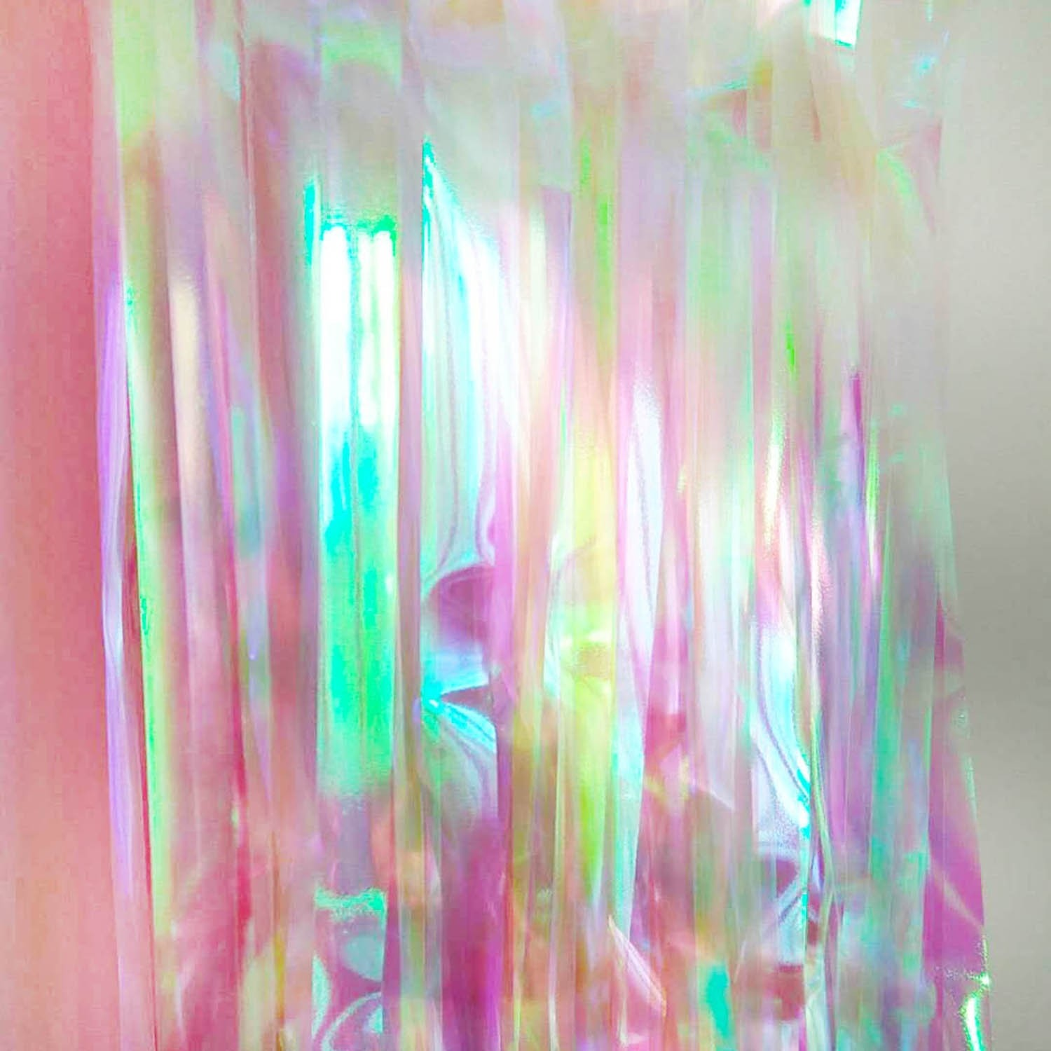 iridescent fringe foil curtain