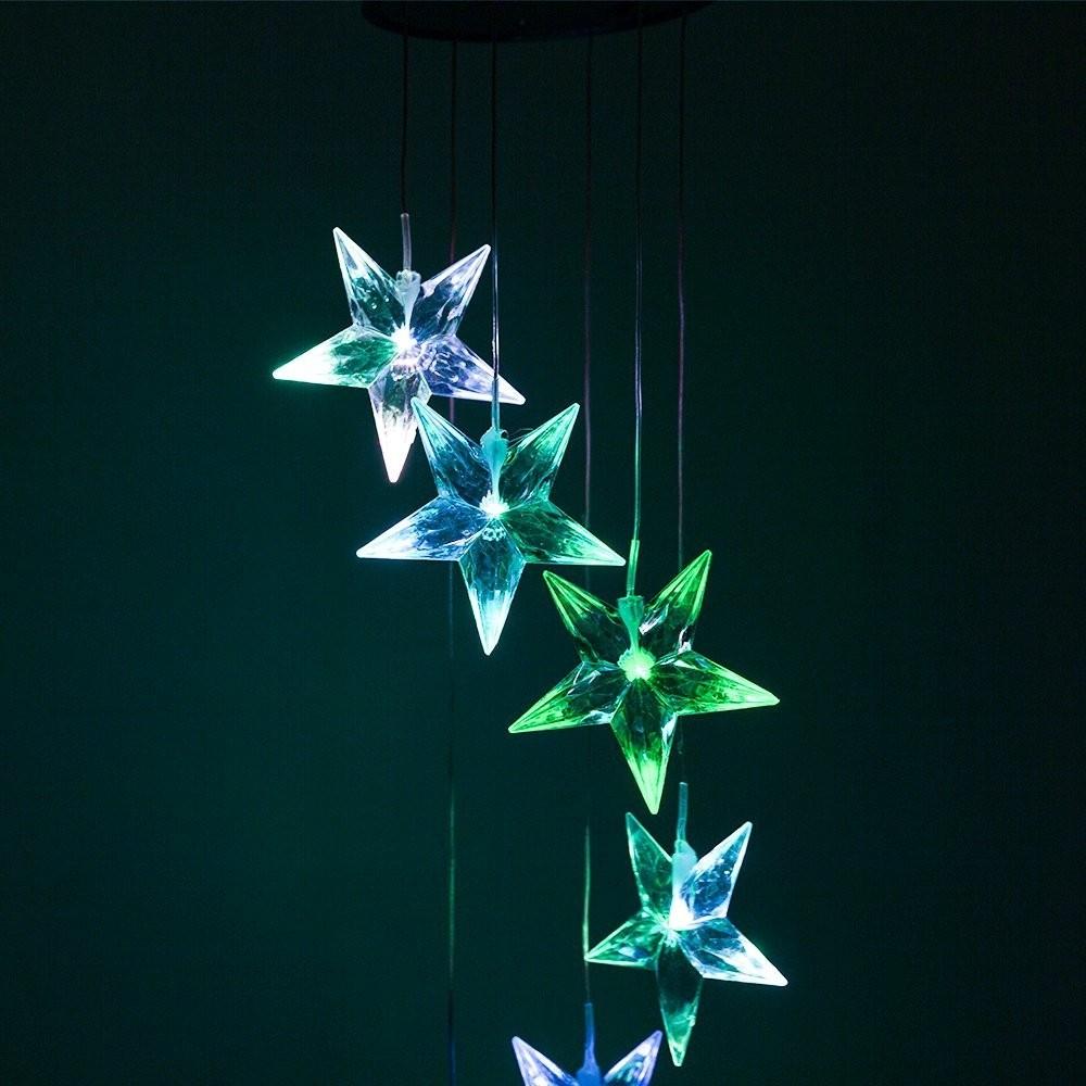 Solar Led Night Light Glow Rainbow Stars