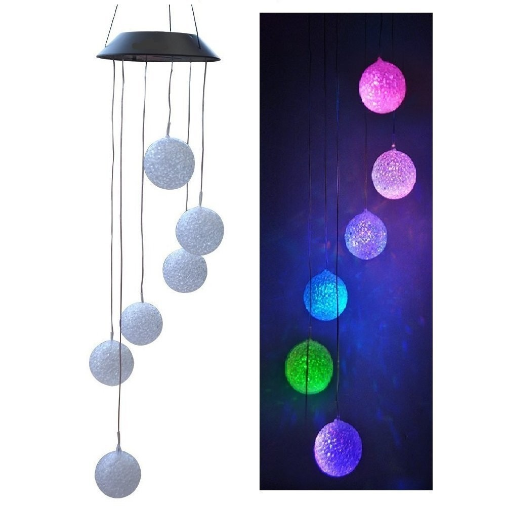 Solar Led Night Light Glow Rainbow Ball