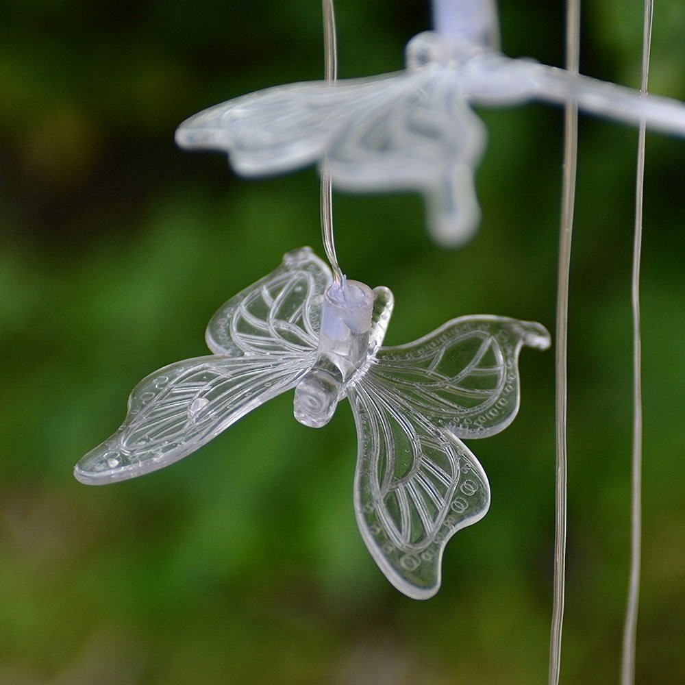 Solar Crystal Butterfly Decor