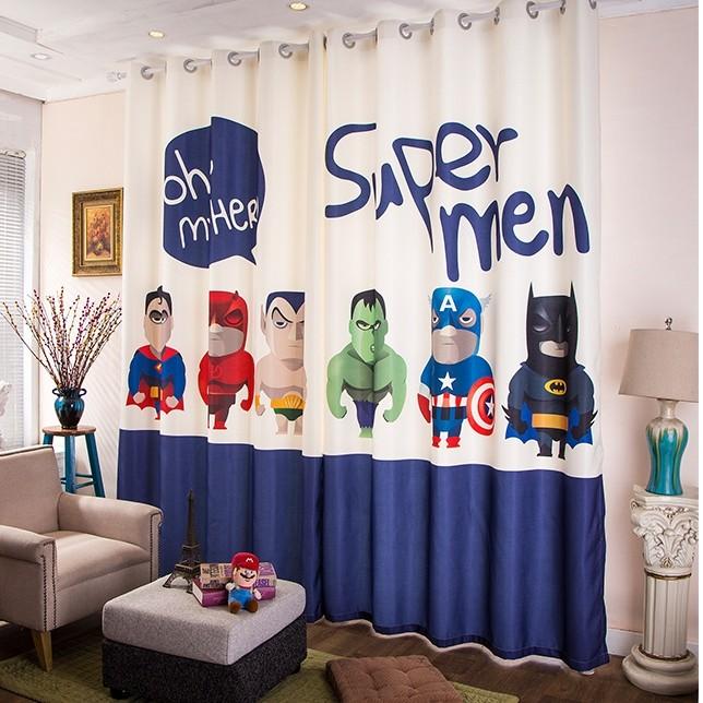 Superman Bathroom Decor: Superman Curtain