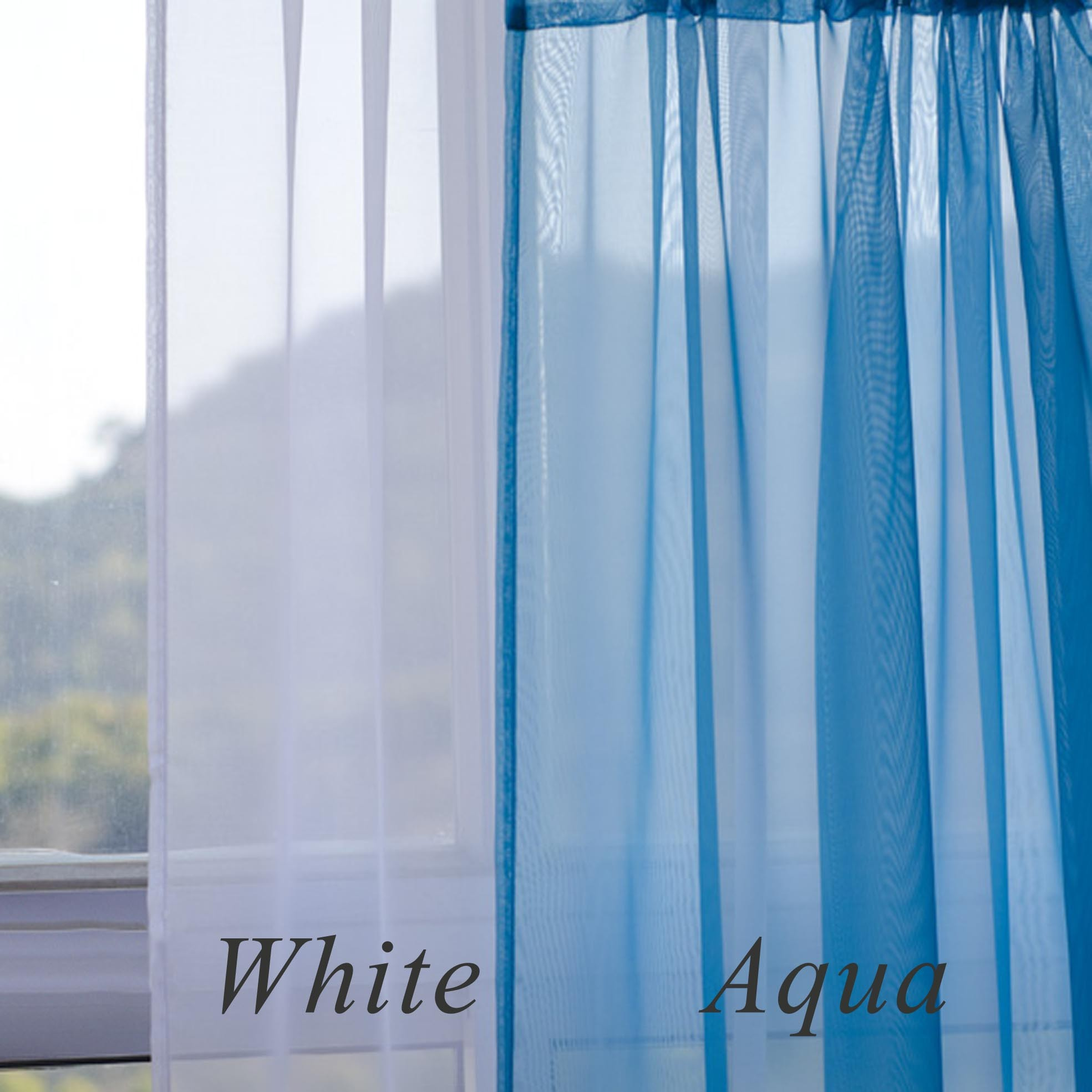 pair more aqua bedding clothing curtains shopping vcny pin blue curtain window jewelry home overstock inches com electronics online furniture panel sheer gabrielle sheerssheer