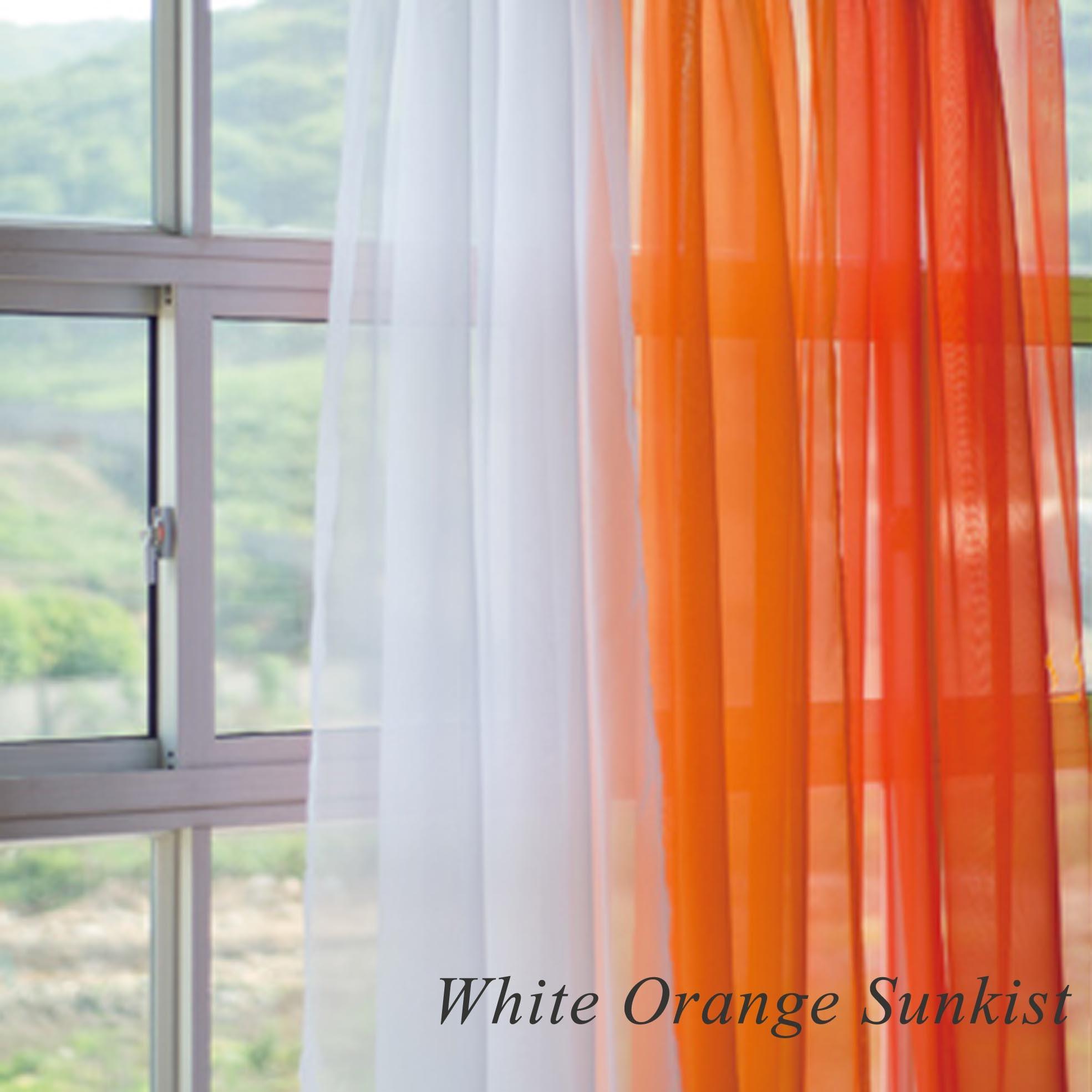 Orange And White Shower Curtain