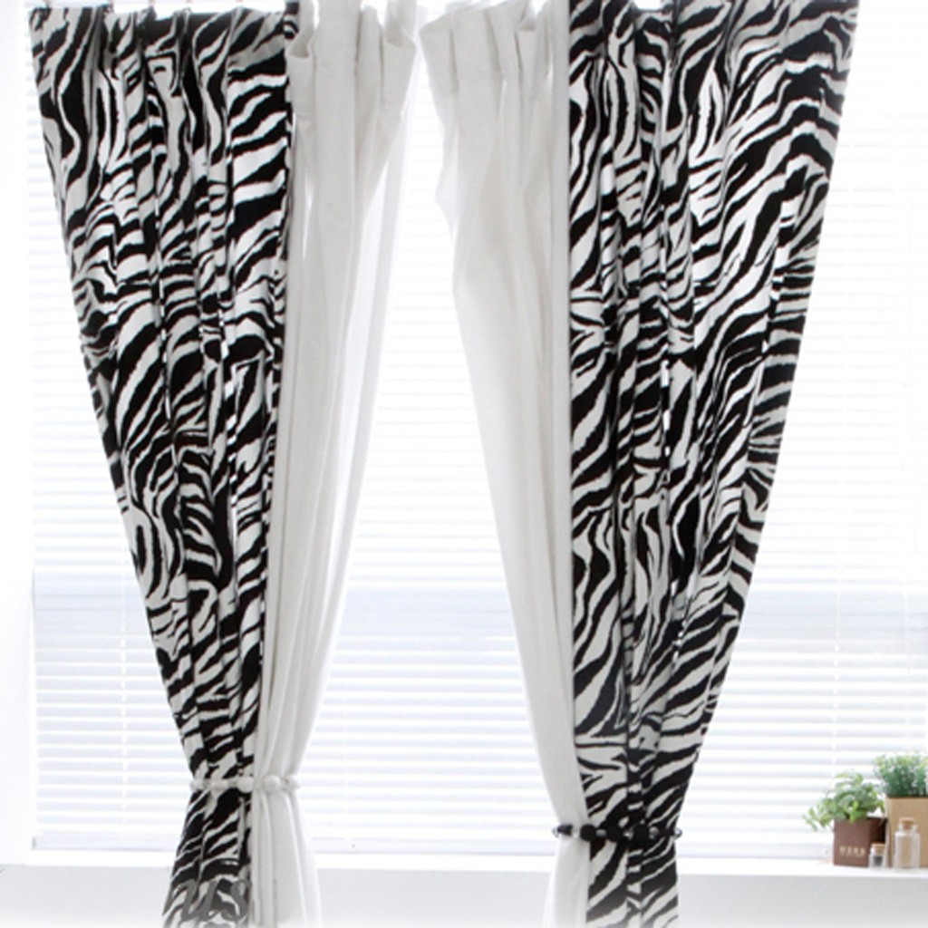 Zebra Print Kitchen Decor: Zebra Curtain